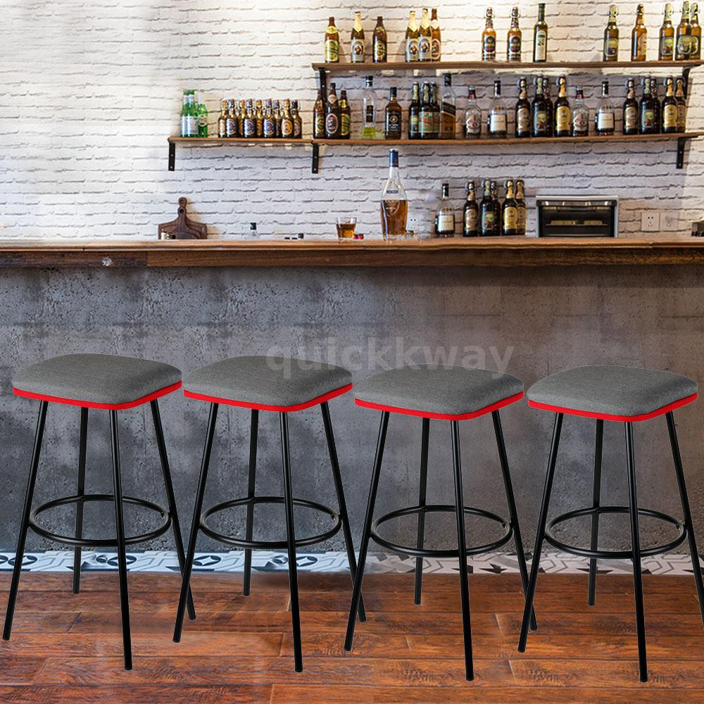 Cool Details About Set Of 4 Metal Bar Stools Padded Seat Counter Pub Kitchen Dining Chairs New N2Z1 Creativecarmelina Interior Chair Design Creativecarmelinacom